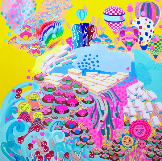 "Joy of Life / 36""x36"" / Acrylic on Canvas / 2014"