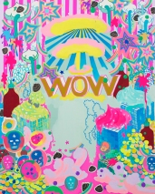 "WOW / 30""x24"" / Acrylic on Canvas / 2014"