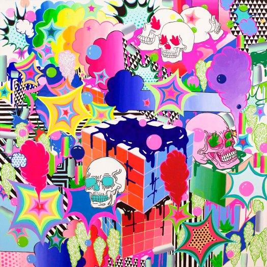 "Brain Disorder / 36""x36"" / Acrylic on Canvas / 2016"