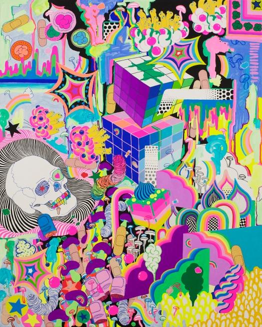 """Thanatos / 40"""" x32"""" / Acrylic on Canvas / 2018"""