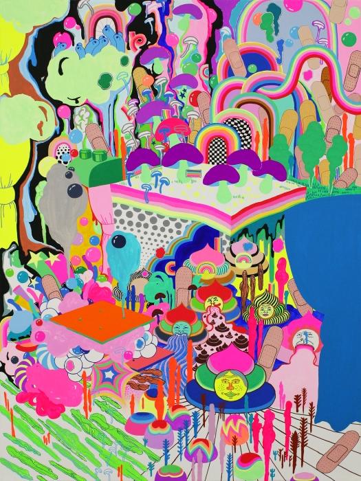 """Dream Garden / 32""""X 24"""" / Acrylic on Canvas / 2018"""